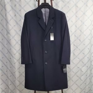 London Fog Men's Signature Wool-Blend Topcoat
